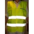 Gilet de sécurité jaune fluo