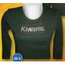 Tee Shirt noir Kiwanis strassé