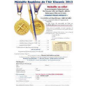 Médaille Baptême de l'air