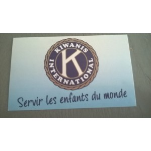 "Autocollant Kiwanis ""serving the children of the world"""
