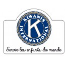 "Autocollant ""Membre Kiwanis International"""