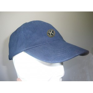 Casquette bleu marine avec broderie